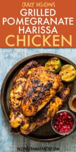 GRILLED POMEGRANATE HARISSA CHICKEN