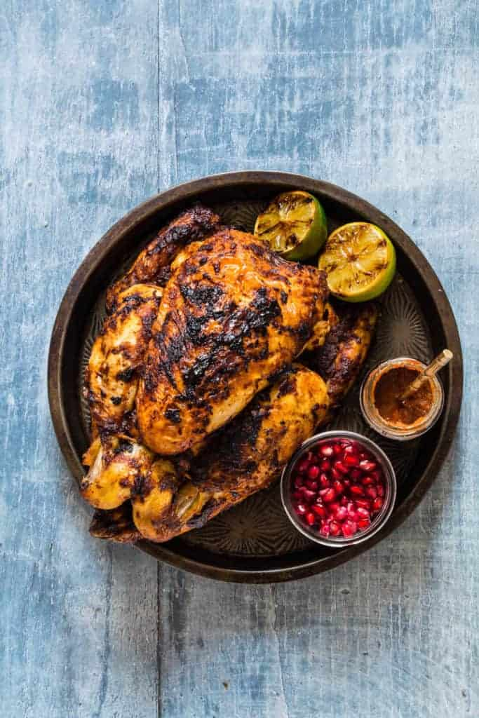 Grilled Pomegranate Harissa Chicken {Gluten-free} - Recipes From A Pantry