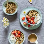 Marinated Strawberry Granola Breakfast Bowls {Vegan and Gluten-free}