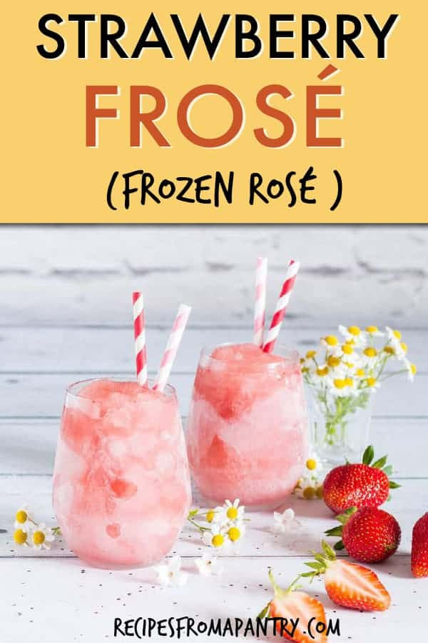strawberry frose frozen rose