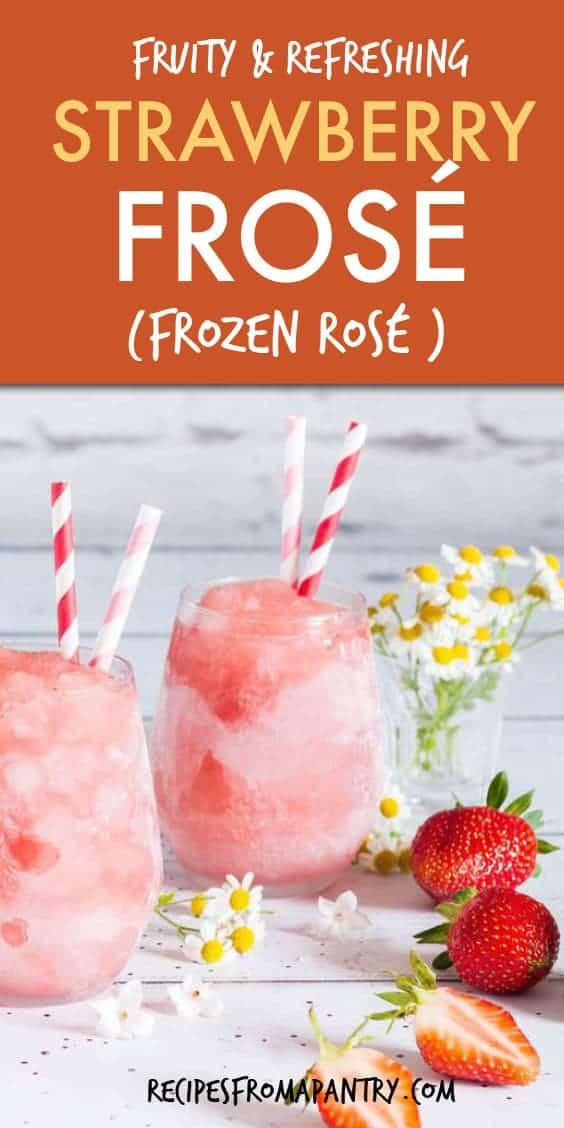 strawberry frose frozen rose