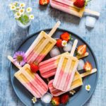 Peach Strawberry Ice Lollies