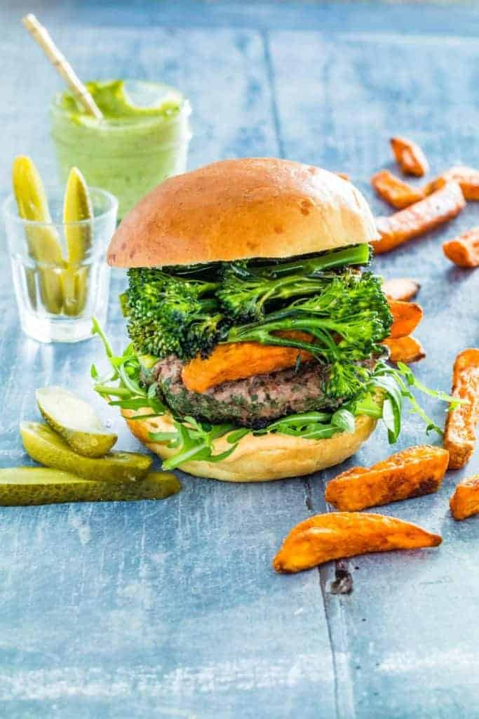 The herb loaded beef burgers are really tasty and packed full of flavour with parsley, coriander and basil and perfect for a BBQ. recipesfromapantry.com