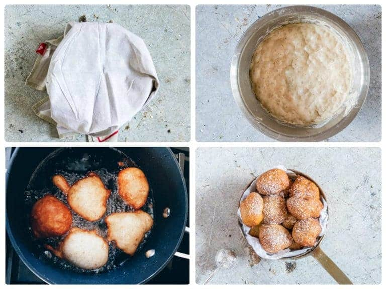 how to make puff collage 2 - deep fried dough on the table. Sweet, fluffy golden brown Nigerian puff puff recipe. recipesfromapantry.com #puffpuff #africanrecipe #nigerianpuffpuff #africanpuffpuff