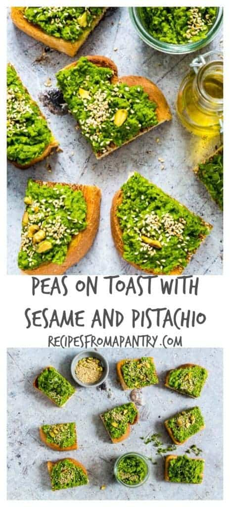 This easy and creamy peas on toast recipe makes the perfect brunch treat. It is suitable for vegans and vegetarians. recipesfromapantry.com