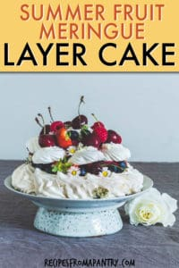 summer fruit meringue layer cake