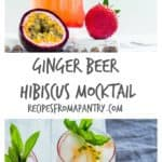 A refreshingly easy ginger beer hibiscus mocktail recipe that screams summer and all things exotic. recipesfromapantry.com