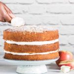 Almond Cardamom Apple Layer Cake