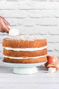 Almond Cardamom Apple Cake