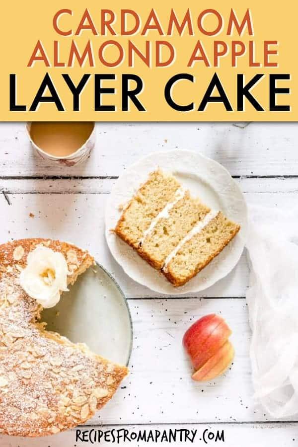CARDAMOM ALMOND APPLE CAKE