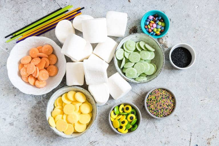 Halloween Marshmallow pos ingredients