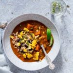Easy weeknight supper – a warming Jamaican vegetable soup that is vegan and gluten free. Add other vegetable to your taste. recipesfromapantry@gmail.com