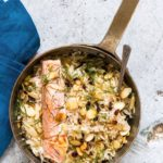 One Pot Salmon With Lemon Cardamom Rice {Gluten-free}