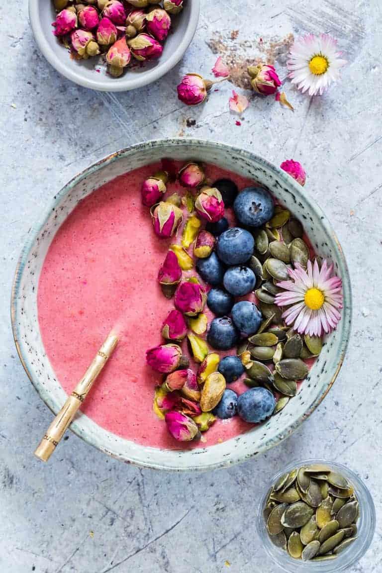 Strawberry Blueberry Smoothie Bowl Gluten Free Recipes