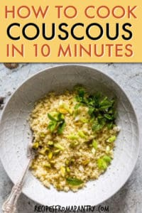 HOW TO COOK COUSCOUS IN TEN MINUTES