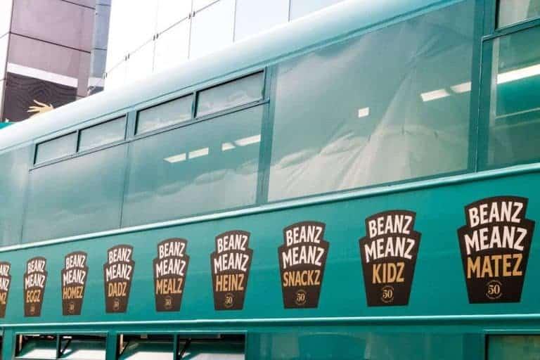 Heinz Beanz Bus with logo - recipesfromapantry.com