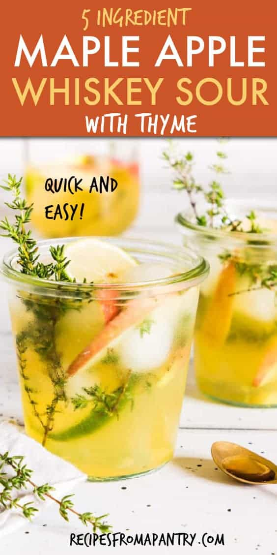 MAPLE APPLE WHISKEY SOUR WITH THYME
