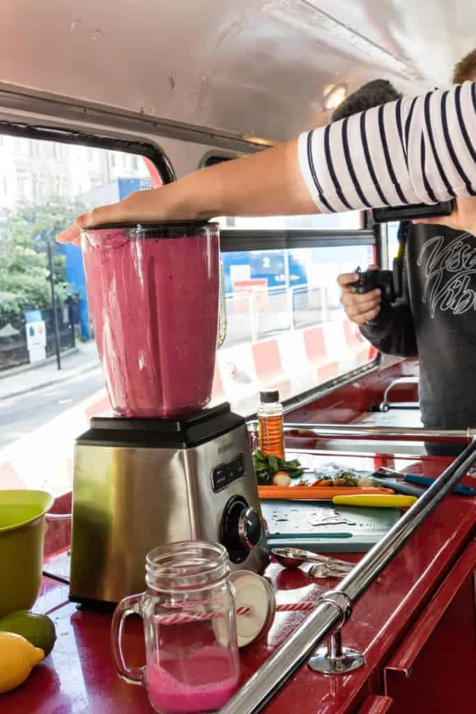 Smoothies on Brabantia Bo Touch Bin bus - recipesfromapantry.com