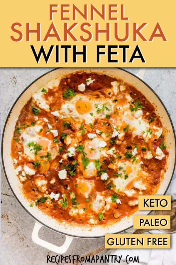 fennel shakshuka with feta