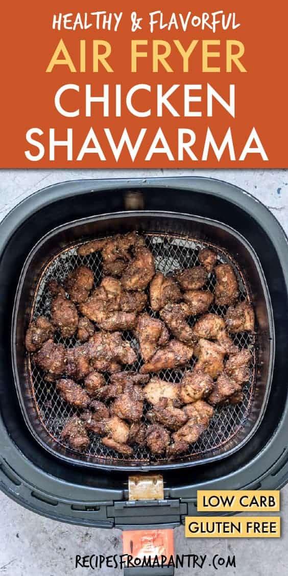 Chicken shawarma in the air fryer
