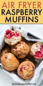air fryer raspberry muffins