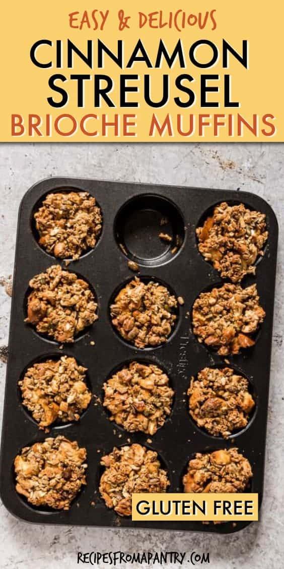 cinnamon streusel brioche muffins