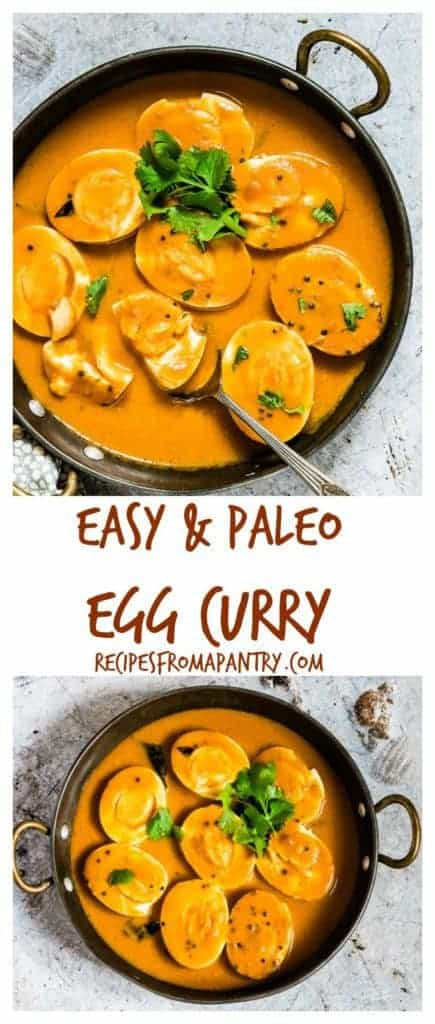 An easy creamy Indian egg curry recipe which is eggs cooked in an aromatic tomato sauce and is suitable for vegetarians. #easyeggcurry #eggcurry #eggcurryrecipe #indianeggcurry #goaneggcurry