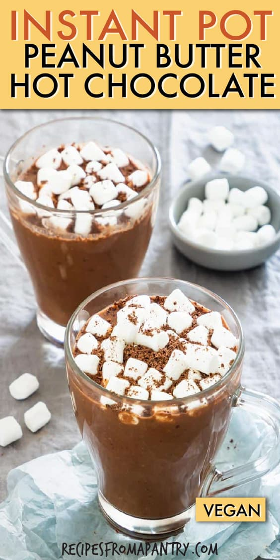 INSTANT POT PEANUT BUTTER HOT CHOCOLATE