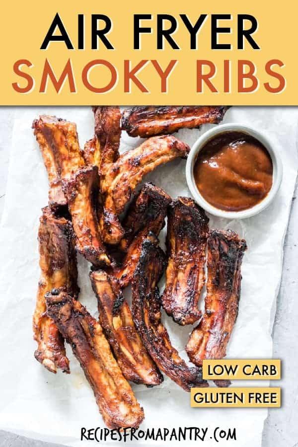 SMOKY AIR FRYER BBQ RIBS