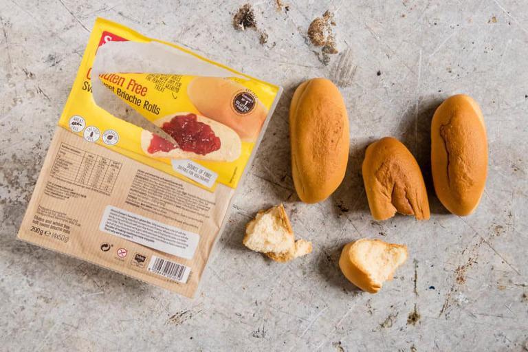 Schar gluten-free brioche rolls too. #glutenfree #briochemuffins #briochecups #glutenfreemuffins #cinnamonstreusel