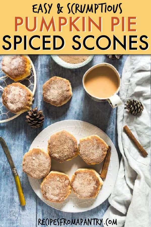 pumpkin pie spiced scones