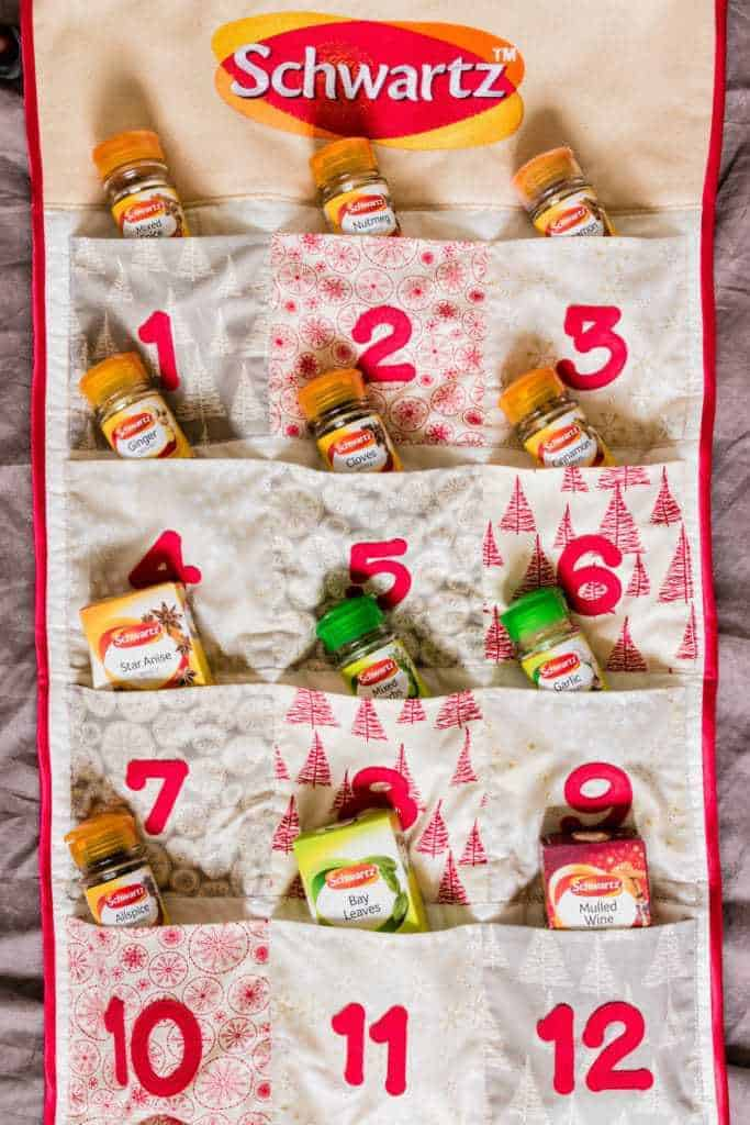 Schwartz advent calender with a selection of 12 herbs and spices