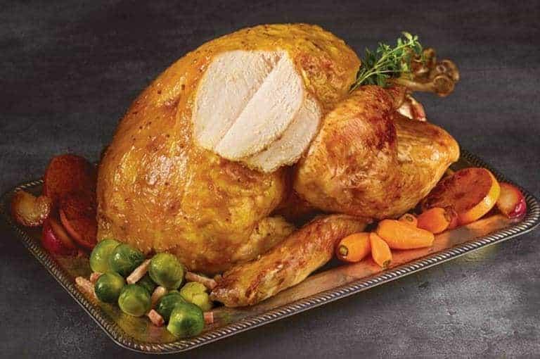 Iceland Foods Gilded Turkey served at event
