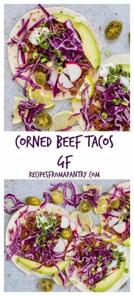 Corned Beef Tacos are an easy lunch recipe and easy supper recipe using canned corned beef. It's a gluten-free taco recipe your whole family will love. #tacos #tacorecipe #cornedbeef #glutenfreerecipes #cornedbeeftaco #cannedcornedbeff #cornedbeeftaco #africanrecipe #sierraleonerecipe