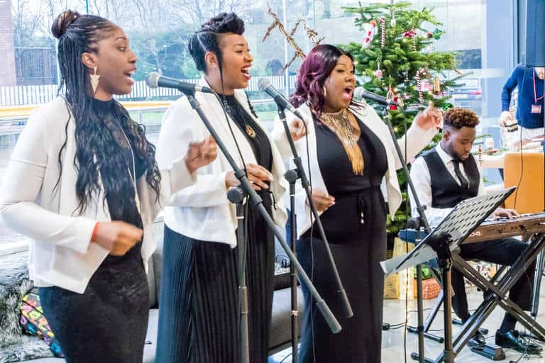 iceland foods event women singing