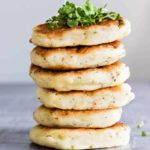 Potato Pancakes with Leftover Mashed Potatoes is a good use of your leftover mashed potatoes, or when you want to make a fun twist on standard mashed potatoes. #potatopancakes #mashedpotatopancakes #leftoverpotatopancakes #easypotatopancakes #glutenfreepotatopancakes #howtomakepotatopancakes #glutenfree