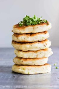 6 Potato Pancakes with Leftover Mashed Potatoes in a stack