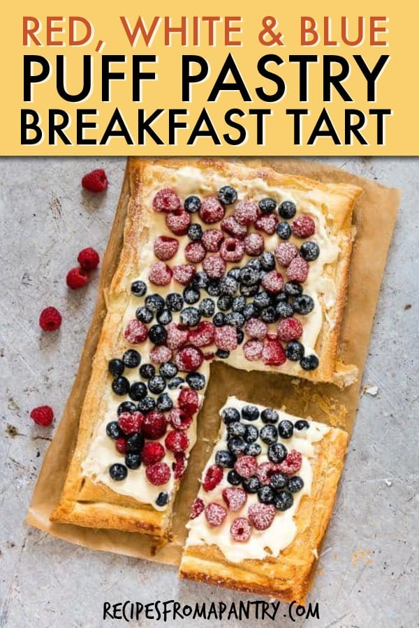 RED WHITE AND BLUE PUFF PASTRY BREAKFAST TART