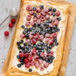 Berries and Cream Cheese Puff Pastry Breakfast Tart