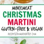 Looking for a Christmas martini or Christmas cocktail? Try this rich and flavourful Mincemeat Christmas Martini. #christmasdrinks #christmascocktail #christmasmartini #christmasrecipes