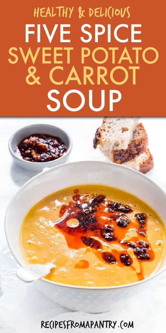 FIVE SPICE SWEET POTATO AND CARROT SOUP