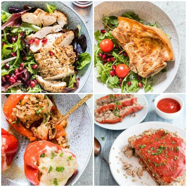 instant pot recipes main dishes collage including instant pot chicken breast and instant pot pork chops