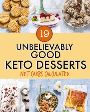 19 unbelievably good keto desserts
