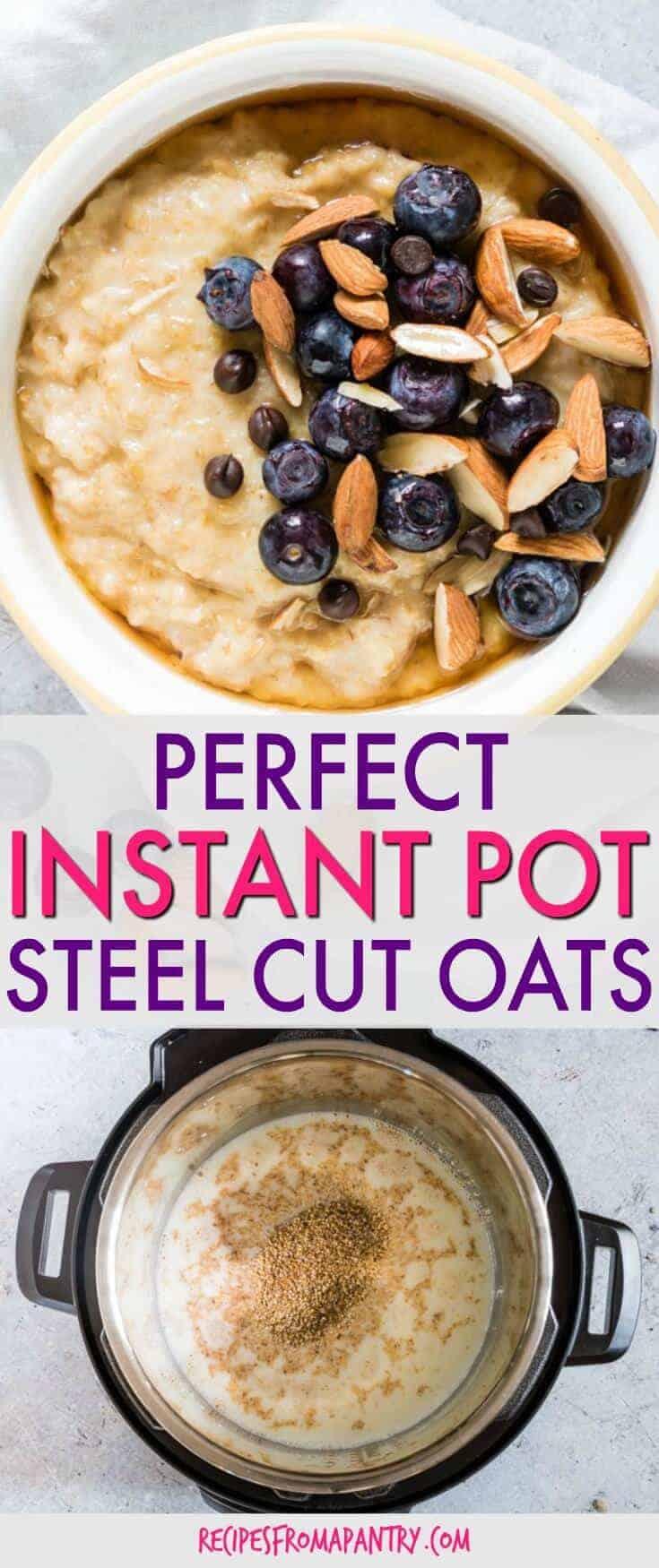 instant pot steel cut oats