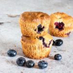 Easy Vegan Blueberry Muffins are sweet, soft, and filled with blueberry goodness. A quick and easy blueberry muffin recipe and vegan muffin recipe. #vegan #veganrecipes #veganblueberrymuffins #easyblueberrymuffins
