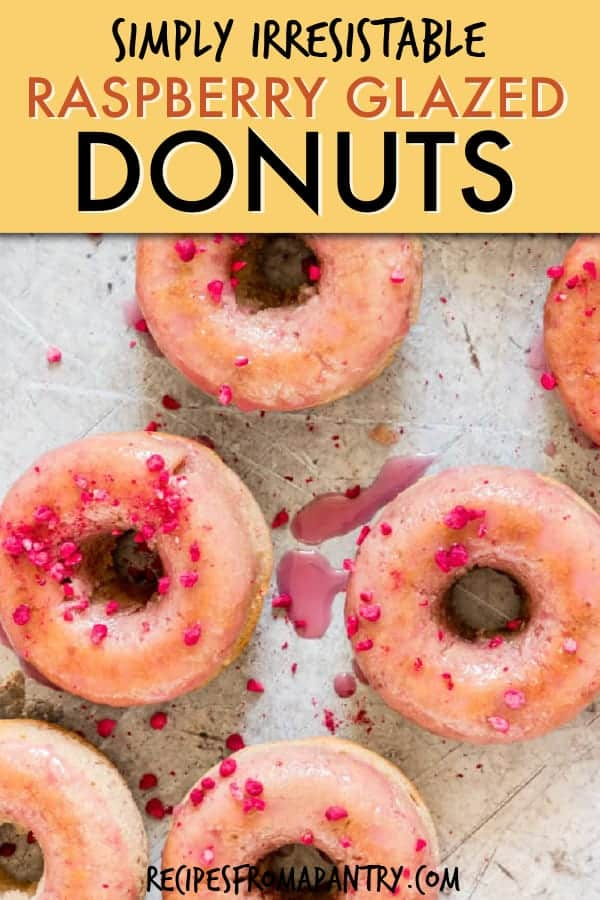 RASPBERRY GLAZED DONUTS