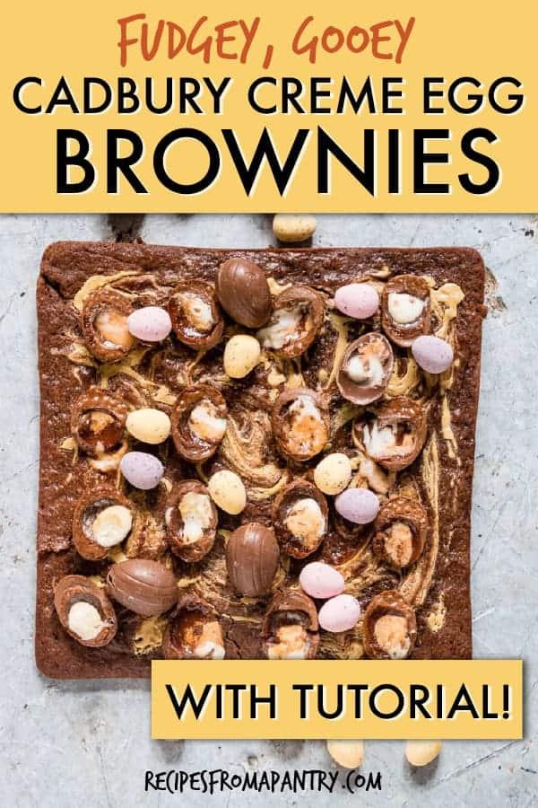 cadbury creme egg brownies