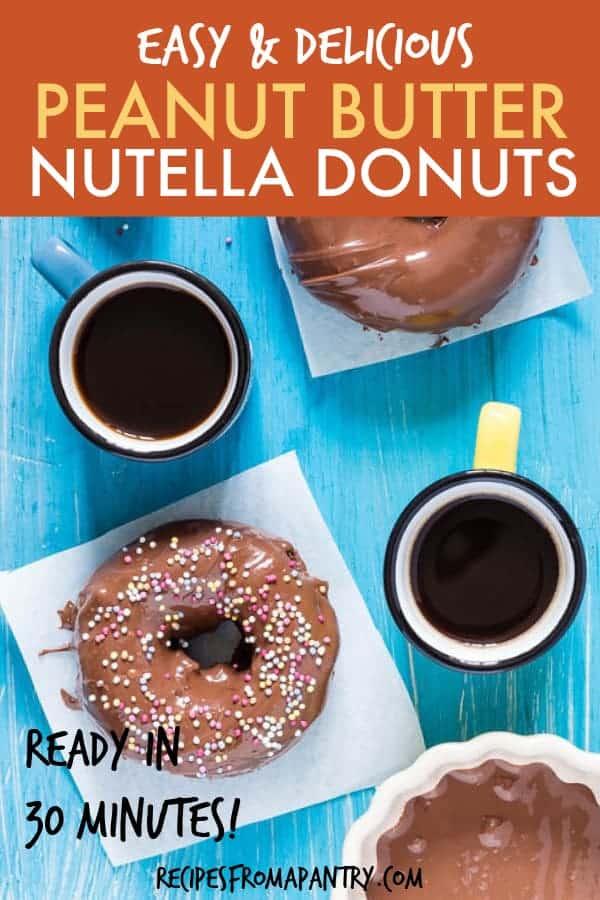 peanut butter nutella donuts