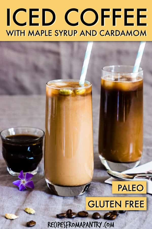 maple syrup cardamom iced coffee