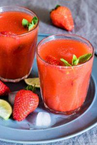 Strawberry Daiquiri {Frozen Daiquiri – Gluten-Free, Vegan}